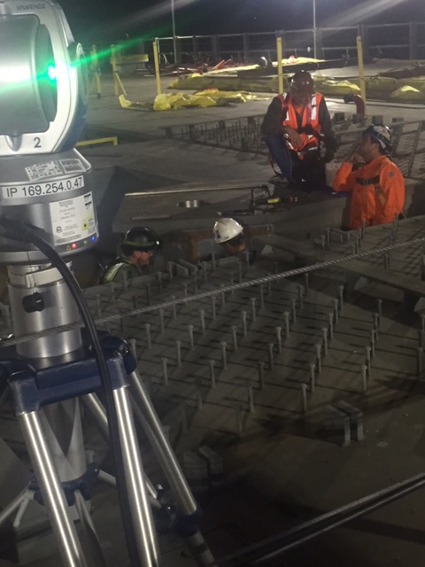 Working through the night to get the job done.